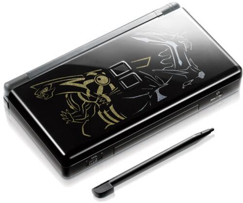 Nintendo DS Lite Full Replacement Housing Shell Screen Lens Black Pokemon US!