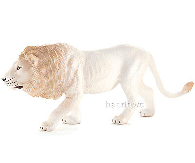 Mojo Fun 387206 Male White  Lion Realistic Model Toy Wild Animal Replica - NIP