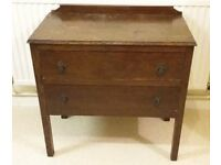 STUNNING QUALITY DOVE-TAILED 2 DRAWER CHEST OF DRAWERS - PRICED TO SELL