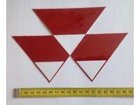 2090 Small Triple Triangle Decal Fits Massey Ferguson 888853M1 196463M1
