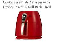 Cook's Essentials Air Fryer with Frying Basket & Grill Rack new