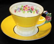 Flower Handle Cup and Saucer