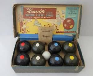 Henselite Junior Biased Indoor Bowls, Boxed   Instructions