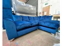 BRAND NEW COUCH PLUSH VELVET CORNER/3+2 SEATER SET SOFA AVAILABLE