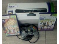 Xbox 360 kinect with pad and games