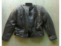Men's leather jacket and trousers.