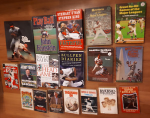 Lotof 17 different baseball books hardcover, biography 70s 80s
