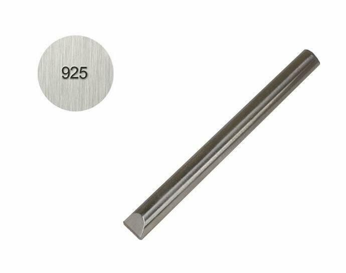 925 - 1 MM Straight Steel Sterling Silver Purity Metal Marking Jewelry Stamp