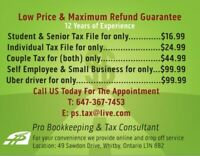Professional  Income Tax Services Call @647-367-7453