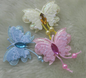 150-30pcs-Padded-Butterfly-Appliques-DIY-Craft-Kids-Doll-Lots-UPick-E148