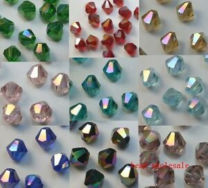 100pcs-loose-glass-crystal-bicone-spacer-beads-4mm-AB-Color-You-Choose