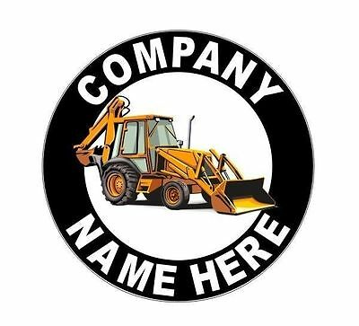 2 Personalized 12 Backhoe Front End Loader Decals For Truck Doors Or Bucket