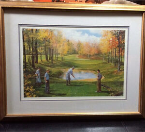 Aiming for the Future (golf print) by Peter Etril Snyder