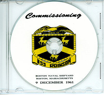 USS Robison DDG 12 Commissioning Program 1961 United States Navy Plank Owners