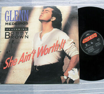 """Pop Rap  12"""" Vinyl - Glenn Medeiros Ft Bobby Brown - She.. JG1"""