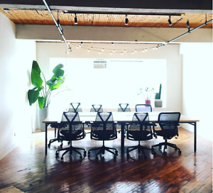 Beautiful loft-style, open concept office, Mile End,for sublease