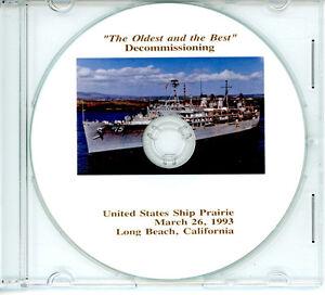 USS Prairie AD 15 Decommissioning Program 1993 United States Navy