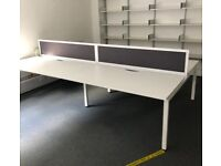Claremont 4-Person Bench Desks - 2 IN STOCK (RRP £2,500)