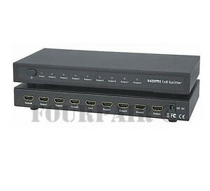 1x8-HDMI-8-Port-Video-Splitter-Amplifier-Repeater-3D-1080p-1-Input-8-Output