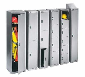 EMPLOYEE LOCKERS - SINGLE TIER, DOUBLE TIER, LOCKERETTES