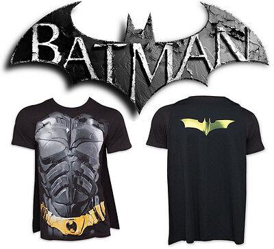 BATMAN Costume T-Shirt w/ Cape Mens Dark Knight Authentic