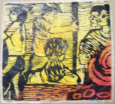 ON THE BUS by RUTH FREEMAN  MIXED MEDIA 12 1/4  X 11 1/2