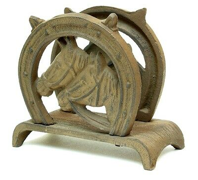 Cast Iron Horse Napkin or Letter Holder Wester - Wester Decor