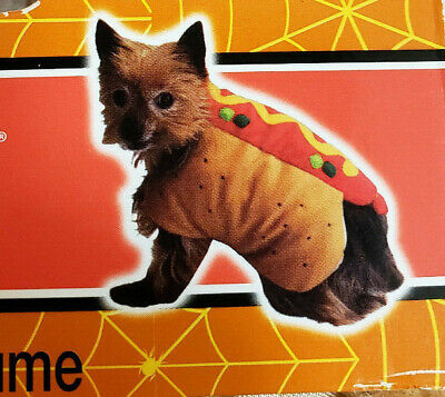 Hot Dog Halloween Pet Costume By Spooky Village Size XS - Spooky Hot Dogs Halloween