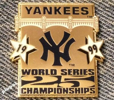 1999 New York Yankees Lapel Pin ~ 25 World Series Championships ~ MLB ~ (New York Yankees World Series Championships 1999)