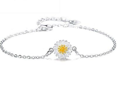 ADJUSTABLE Silver Daisy Chain Flower Anklet Ankle Bracelet Sandal Beach Gift AG