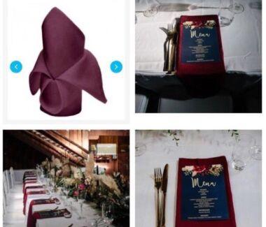 Burgundy or Wine Cloth Napkins