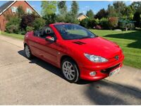 Convertible Peugeot 206cc Low Mileage Top Spec New MOT Ready For Fun In The Sun