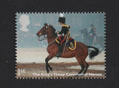 MILITARY HORSES KINGS TROOP, GB 2014 UM MINT STAMP