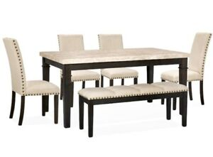 Ashburton 6-Piece Dining Package with Bench