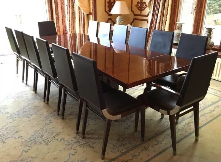 14 seater fifth avenue walnut dining office board room table chairs