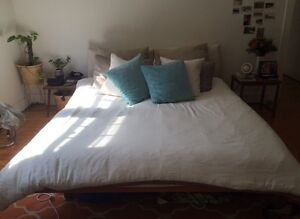 Poliform Queen Bed + Side Tables + Latex Mattress Bronte Eastern Suburbs Preview