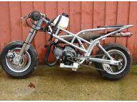mini moto non runner and mini moto frame