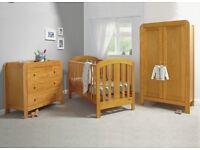 Wood effect nursery furniture set