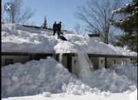 Rooftop snow & ice dam removal at low cost