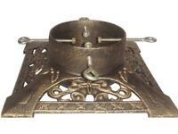 Antique gold Christmas tree stand- brand new
