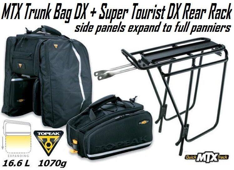 Topeak Mtx Trunk Bag Exp Expandable Pannier Super