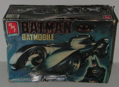 1989 Ertl AMT DC Comics Batman Batmobile 1/25 Model Kit New
