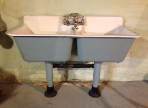 Double Cast Iron Sink