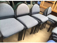 25 x Blue Stacking Meeting Chairs