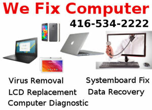 We Fix Computer Windows Mac Tablet Phone - EUsed Computer Store