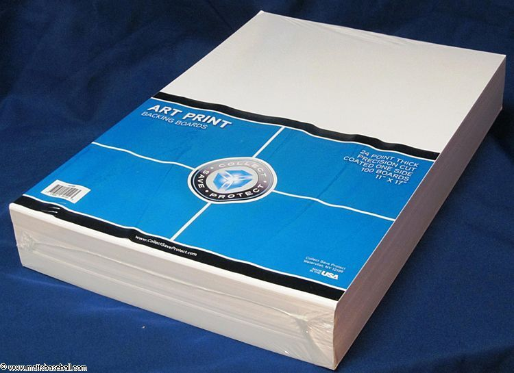 100 CSP 11 x 17 Art Print 2-mil Poly Bags +100 CSP Acid Free 11x17 Backer Boards