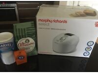 ALMOST BRAND NEW* MORPHY RICHARDS SELECT DAILY BREADMAKER + INGREDIENTS