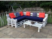 Garden pallet furniture bench seat sofa