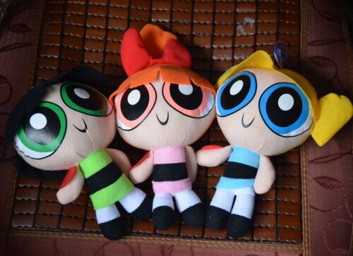 "2pcs// set Cool 1999 Cartoon Network The Powerpuff Girls Plush Toy Soft 9/"" Doll"
