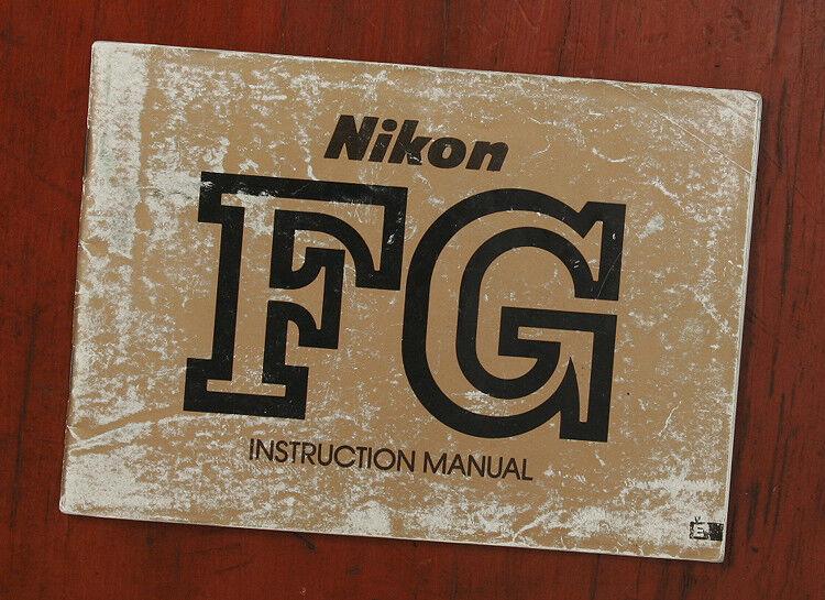 NIKON FG INSTRUCTION MANUAL/132181